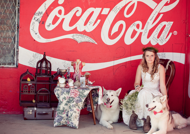 Styled glamour and vintage shoot